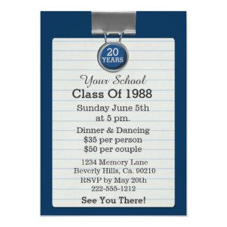 Reunião de classe azul do papel para cartas do convite 12.7 x 17.78cm
