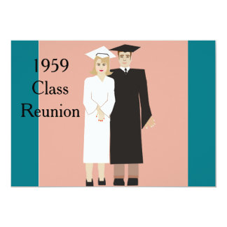 Reunião de classe convite 12.7 x 17.78cm