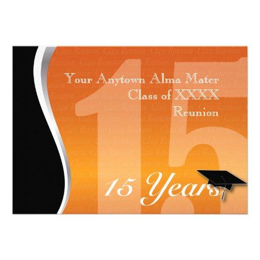 Reunião de classe customizável de 15 anos convite