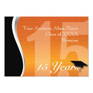 Reunião de classe customizável de 15 anos convite 12.7 x 17.78cm