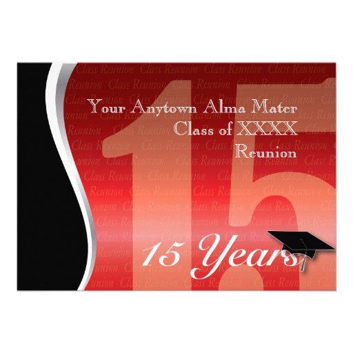 Reunião de classe customizável de 15 anos convite personalizado