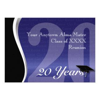Reunião de classe customizável de 20 anos convites personalizado