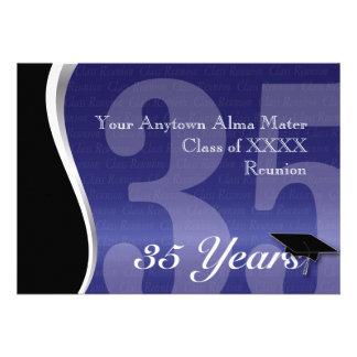 Reunião de classe customizável de 35 anos convite personalizado