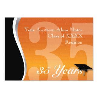 Reunião de classe customizável de 35 anos convite 12.7 x 17.78cm