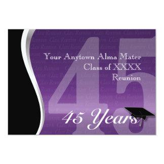 Reunião de classe customizável de 45 anos convites