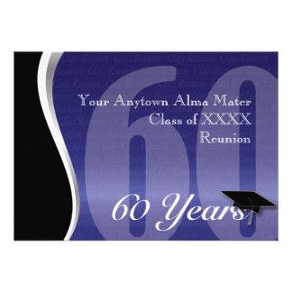 Reunião de classe customizável de 60 anos convites personalizados