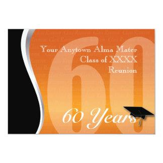 Reunião de classe customizável de 60 anos convite 12.7 x 17.78cm