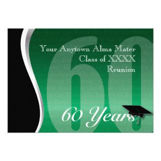 Reunião de classe customizável de 60 anos convite personalizados