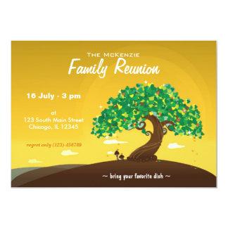 Reunião de família (alaranjada) convite 12.7 x 17.78cm