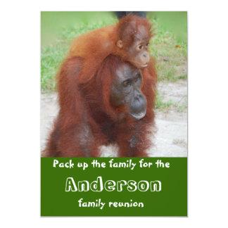 Reunião de família animal bonito convites