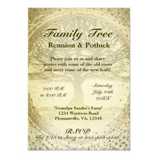Reunião de família - árvore genealógica do vintage convite 12.7 x 17.78cm