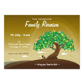 Reunião de família (Brown) Convite 12.7 X 17.78cm