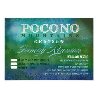 Reunião de família de POCONOS Convite Personalizado