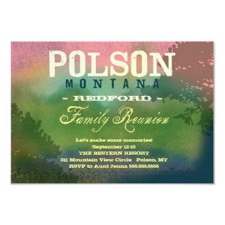 Reunião de família de POLSON MONTANA Convites Personalizados