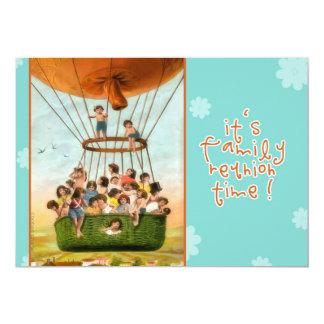 reunião de família do convite, balão de ar quente convite 12.7 x 17.78cm