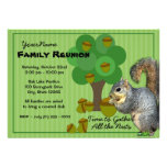 Reunião de família do esquilo convite personalizados