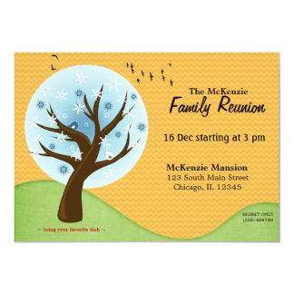 Reunião de família do inverno convite 12.7 x 17.78cm
