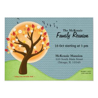 Reunião de família do outono convite 12.7 x 17.78cm