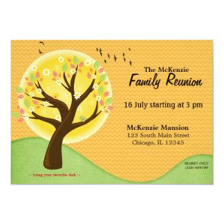 Reunião de família do verão convite 12.7 x 17.78cm