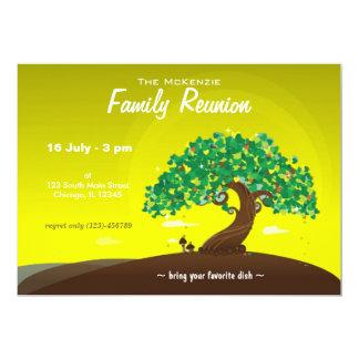 Reunião de família (limão) convite 12.7 x 17.78cm