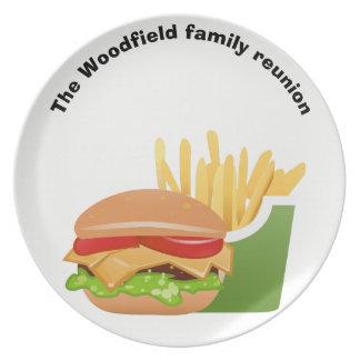Reunião de família personalizada piquenique do prato