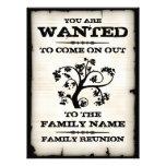 Reunião de família querida convite personalizados