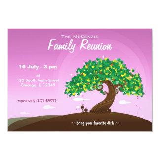 Reunião de família (roxa) convites personalizados