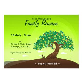 Reunião de família (verde) convite 12.7 x 17.78cm
