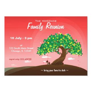 Reunião de família (vermelha) convite 12.7 x 17.78cm