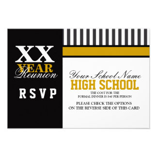 Reunião de turma da escola secundária RSVP Convite Personalizado