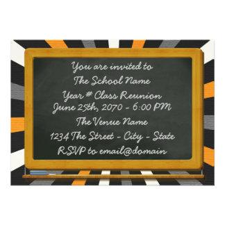 Reunião de turma escolar do conselho de giz do div convites personalizados
