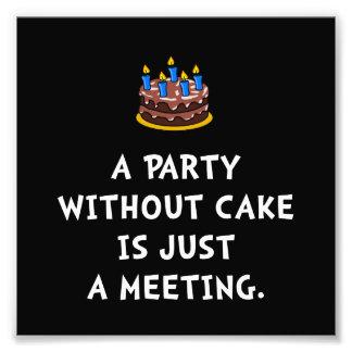 Reunião do bolo impressão de foto