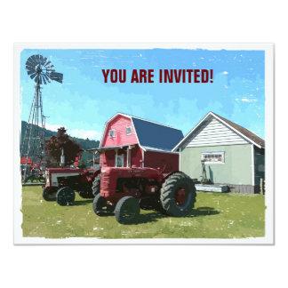 Reunião do estilo country convite 10.79 x 13.97cm