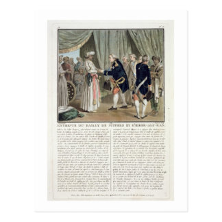 Reunião do santo Tropez de Pierre Andre de Suffren Cartão Postal