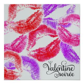 Reunião dos namorados do beijo do Smooch de 311 Convite Quadrado 13.35 X 13.35cm