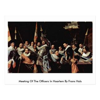 Reunião dos oficiais em Haarlem por Frans Hals Cartao Postal