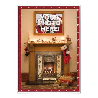 Reunião elegante da festa de Natal/família da Convite 12.7 X 17.78cm