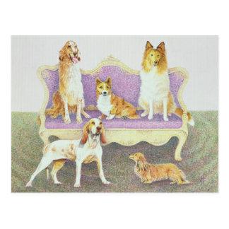 Reunião no salão de beleza cartão postal