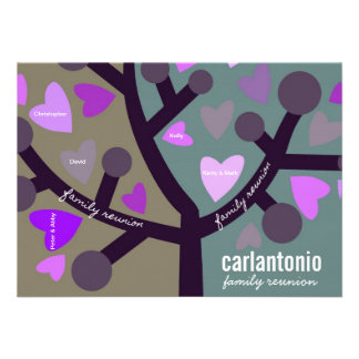 Reunião personalizada da árvore genealógica & de f convite personalizado