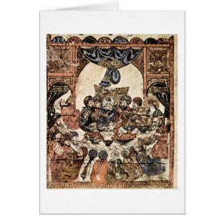 Reuniões do al-Hariri pelo pintor iraquiano Cartão Comemorativo