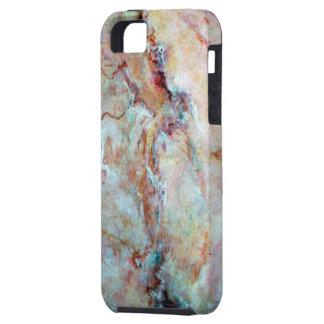 Revestimento cor-de-rosa da pedra do mármore do capa para iPhone 5