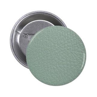 Revestimento de couro cinzento esverdeado do olhar bóton redondo 5.08cm
