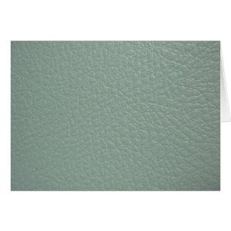 Revestimento de couro cinzento esverdeado do olhar cartão comemorativo