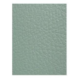 Revestimento de couro cinzento esverdeado do olhar cartão postal