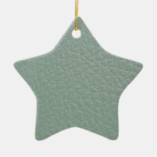 Revestimento de couro cinzento esverdeado do olhar ornamento de cerâmica estrela