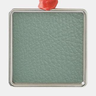 Revestimento de couro cinzento esverdeado do olhar ornamento quadrado cor prata