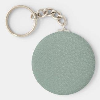 Revestimento de couro cinzento esverdeado do olhar chaveiros