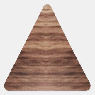 revestimento de madeira adesivos em forma de triângulo