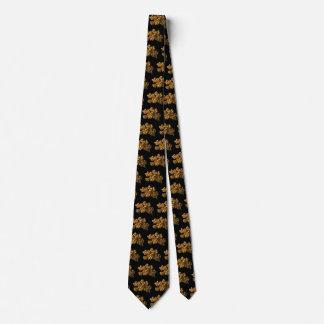 Revista uma foto mineral colorida ouro no preto gravata