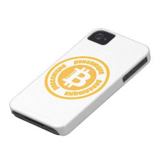 Revolução de Bitcoin versão do russo Capas De iPhone 4 Case-Mate